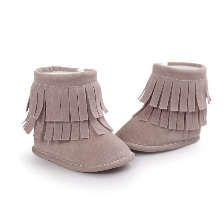 Baby laarzen moccasins taupe