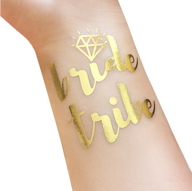 Plaktattoo Bride Tribe Goud