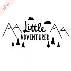 Muursticker Little Adventurer
