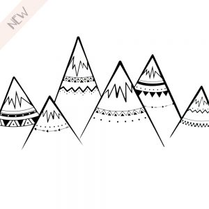 Muursticker Tribal Mountains