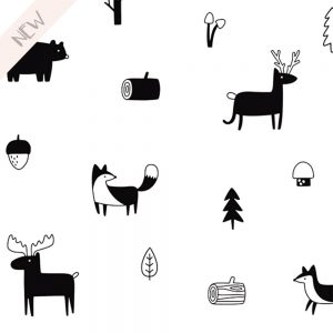 Muurstickers Woodland Animals
